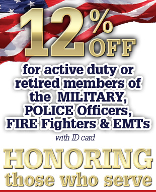 10% off for military police fire fighters