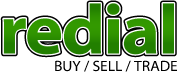 redial logo text